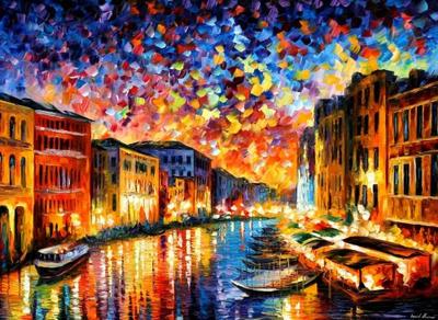 Venice Grand Canal by Leonid Afremov by Leonidafremov
