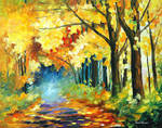 Fall In Forest by Leonid Afremov