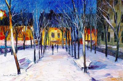 Clean Snow by Leonid Afremov by Leonidafremov