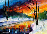 Winter Sunset by Leonid Afremov