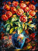 Bouquet by Leonid Afremov
