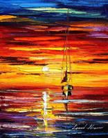 Gold Sunset by Leonid Afremov by Leonidafremov
