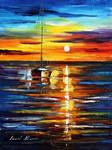 Kissed By The Water by Leonid Afremov