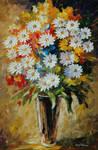 Summer Bouquet by Leonid Afremov by Leonidafremov