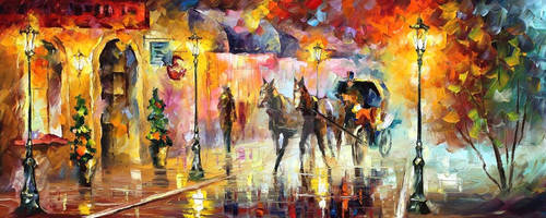 Carriage by Leonid Afremov by Leonidafremov