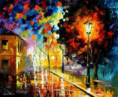 Downtown Lights by Leonid Afremov by Leonidafremov