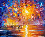 Sunrise in Playa del Carmen by Leonid Afremov