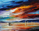 Glowing Sunset by Leonid Afremov