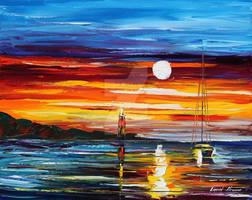 Far Seas by Leonid Afremov by Leonidafremov