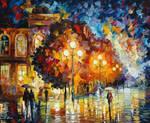 Night Wondering by Leonid Afremov