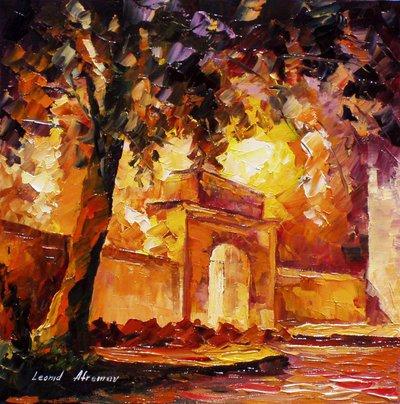 Thick Oak by Leonid Afremov by Leonidafremov