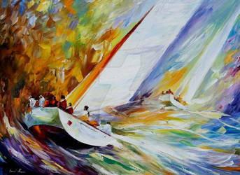 High Wave by Leonid Afremov by Leonidafremov