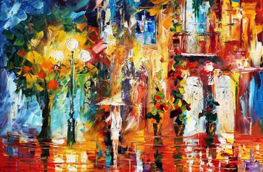 Special Rain by Leonid Afremov by Leonidafremov