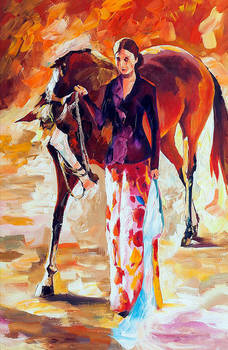 With My Horse by Leonid Afremov