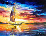 Evening Sailing In Cancun by Leonid Afremov
