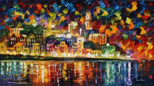 Fiesta In The Harbor by Leonid Afremov