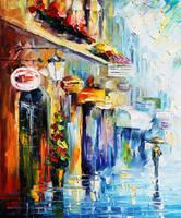 Downtown Stroll by Leonid Afremov by Leonidafremov