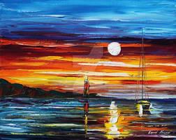 Sea by Leonid Afremov by Leonidafremov