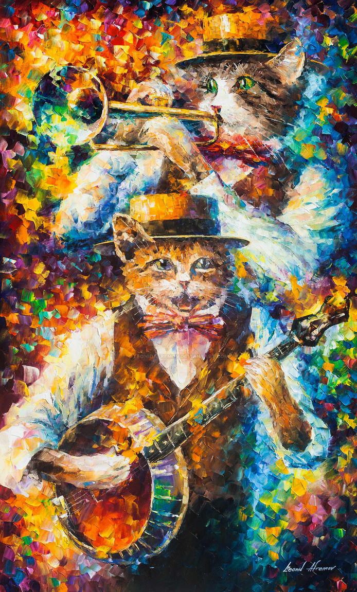 Banjo Music of Cats by Leonid Afremov by Leonidafremov on ...