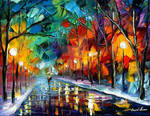 Winter's Way by Leonid Afremov