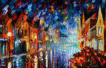 Frozen Night by Leonid Afremov