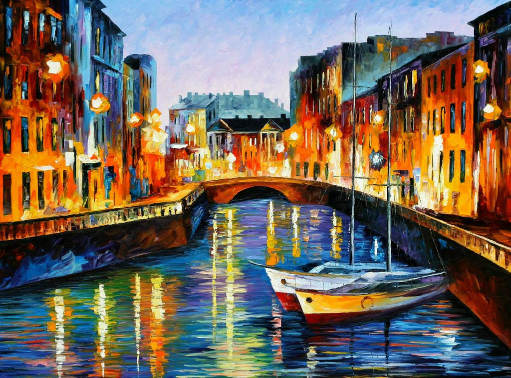 Evening River St. Petersburg by Leonidafremov