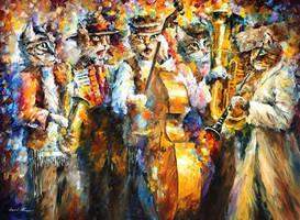 Kleizmer Cats by Leonid Afremov