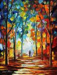 Orange Time by Leonid Afremov