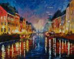 Old Harbor by Leonid Afremov
