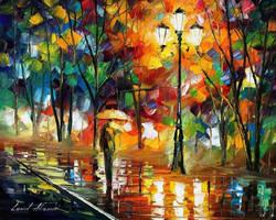 Night Rain by Leonid Afremov by Leonidafremov