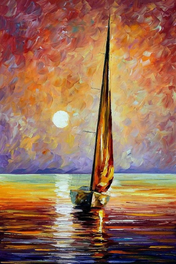 Gold Sail by Leonidafremov