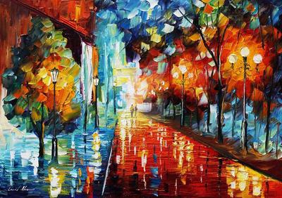 Reflections Of Lust by Leonid Afremov by Leonidafremov