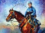 Police On Horseback by Leonid Afremov
