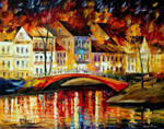 Red Bridge by Leonid Afremov