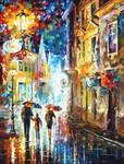 Family In The Rain by Leonid Afremov
