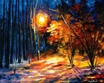 Shadows On Snow by Leonid Afremov