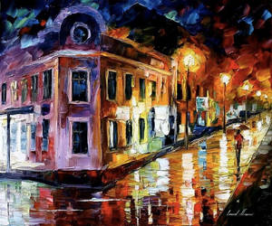 Vibrations Of Night by Leonid Afremov by Leonidafremov