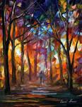 Night Forest by Leonid Afremov
