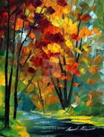 Melody Of Autumn by Leonid Afremov by Leonidafremov