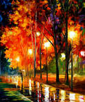 Reflections Of The Night by Leonid Afremovabstract