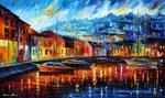 Blue Harbor by Leonid Afremov