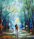 Foggy Park by Leonid Afremov
