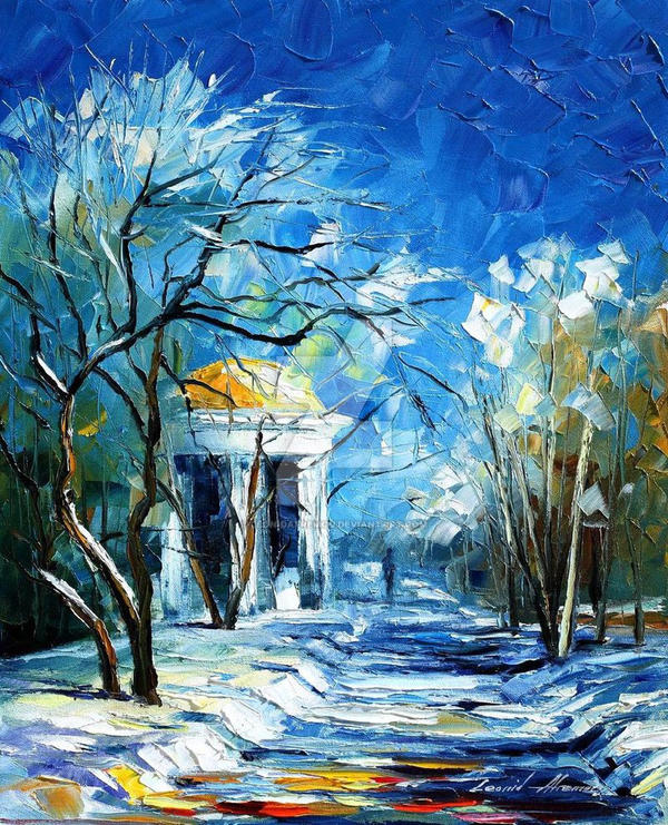 3f4dadb9f18 Winter Perspective by Leonid Afremov by Leonidafremov on DeviantArt