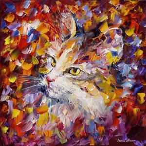 Old Cat by Leonid Afremov