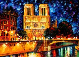 Notre Dame de Paris by Leonid Afremov by Leonidafremov