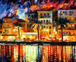 Attractive Corsica by Leonid Afremov by Leonidafremov