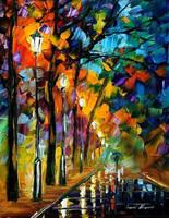 Alley 2 by Leonid Afremov by Leonidafremov
