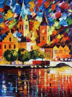 Dark Town by Leonid Afremov by Leonidafremov