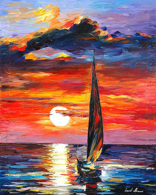 Towards The Sun by Leonid Afremov by Leonidafremov