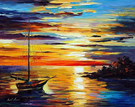 Spring Harbor by Leonid Afremov